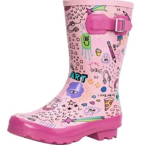 Aleader. Pink mud boot. NWT. Size 9
